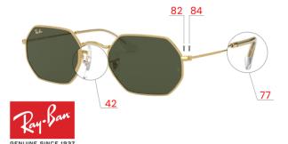 Original Ray-Ban 3556N OCTAGONAL Ersatzteile